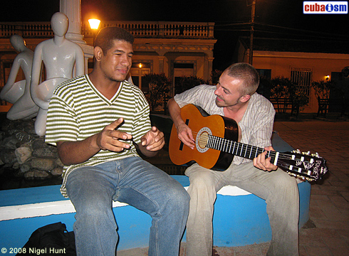 Troubadours in Baracoa Central Park